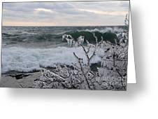 Superior January Waves Greeting Card