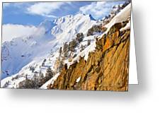 Superior Peak In The Utah Wasatch Mountains  Greeting Card