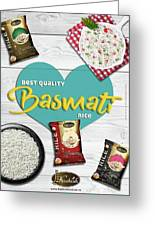 Superior Quality Basmati Rice Importers In New Zealand - Kashish Food Greeting Card