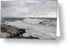 Superior Wild Waves Greeting Card