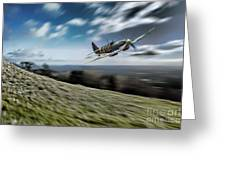 Supermarine Spitfire Fly Past Greeting Card