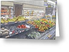 Supermarket Produce Section Greeting Card