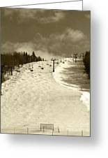 Superstar Skiing Greeting Card