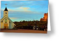 Superstition Mountain Park Church Greeting Card