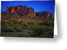 Superstition Mountain Sunset Greeting Card