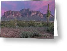 Superstition Sunset Greeting Card
