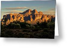 Superstitions At Sunset  Greeting Card