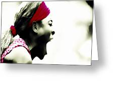 Serena Williams 03c Greeting Card