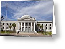 Supreme Courthouse In Tallahassee Florida Greeting Card