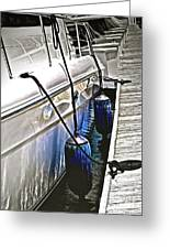 Sure-thing Boat Greeting Card by Gwyn Newcombe