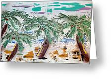 Surf And Palms Greeting Card