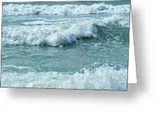 Surf At Duckpool Cornwall Greeting Card