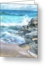 Surf Break Greeting Card