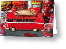 Surf Bus Greeting Card