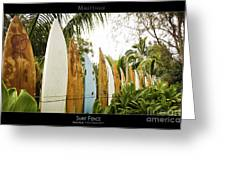 Surf Fence - Maui Hawaii Posters Series Greeting Card by Denis Dore
