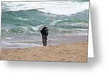 Surf Fishing Greeting Card