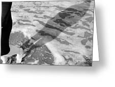 Surf Shadows Greeting Card
