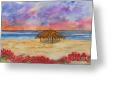 Surf Solitude Greeting Card