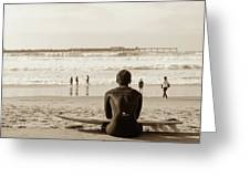 Surf Watcher Greeting Card