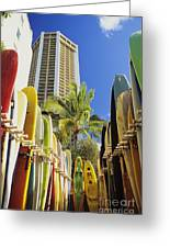 Surfboard Stack Greeting Card