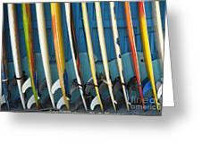Surfboards Greeting Card by Dana Edmunds - Printscapes