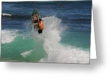 Surfer Action Hawaii Greeting Card