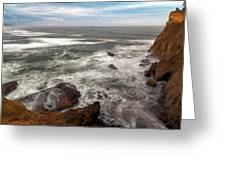 Surfer At Cape Kiwanda In Pacific City Greeting Card