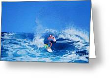 Surfer Charles Martin Greeting Card