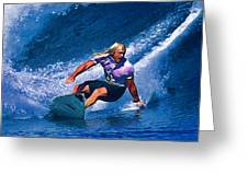 Surfer Dude Catching A Wave Greeting Card