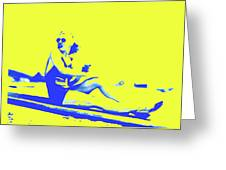 Surfer Girl 1940s Greeting Card