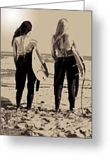 Surfer Girls Greeting Card