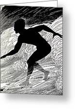 Surfer Greeting Card by Hawaiian Legacy Archive - Printscapes