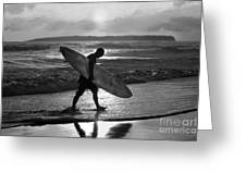 Surfer Heading Home Greeting Card