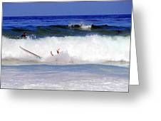 Surfers At Asilomar State Beach Three Oopsy Daisy Greeting Card