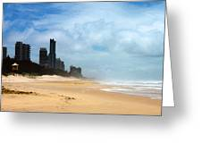 Surfers Paradise On A Stormy Day Greeting Card