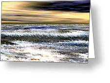 Surfer's Sunset Greeting Card