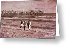 Surfers Three Greeting Card