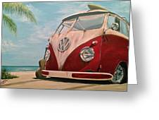Surfin' Greeting Card
