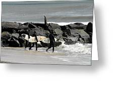 Surfing 78 Greeting Card