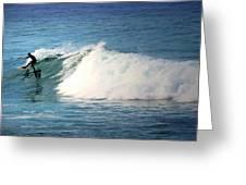 Surfing Asilomar Greeting Card