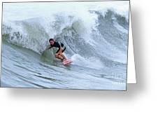 Surfing Bogue Banks 3 Greeting Card