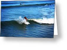 Surfing Boy  Greeting Card