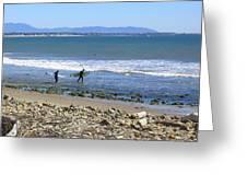 Surfing In Ventura Ca Greeting Card