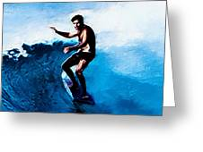 Surfing Legends 10 Greeting Card