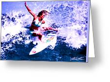 Surfing Legends 6 Greeting Card