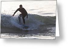 Surfing Narragansett Greeting Card