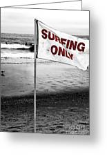 Surfing Only Fusion Greeting Card