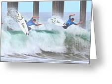 Surfing Sequence Greeting Card