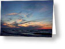 Surfing The Horizon Greeting Card