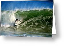 Surfing The Winter Atlantic Greeting Card